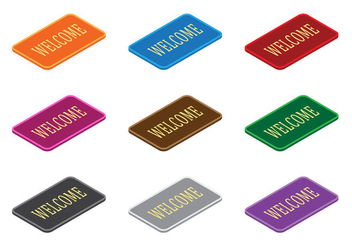 Welcome Mat Vectors - vector gratuit #398389