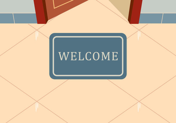 Welcome Mat Vector - vector gratuit #398399