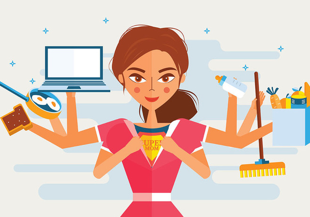 Super Mom Vector - vector gratuit #398439