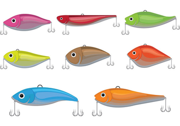 Fishing Lure Vector Icons - бесплатный vector #398449