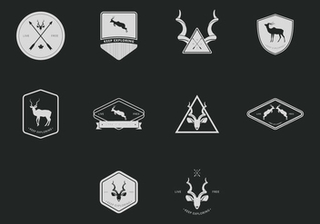 Kudu Hipster Badge Set - Free vector #398469