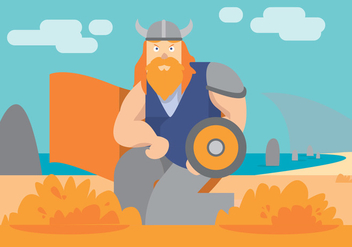 Viking Ship Vector Art - Free vector #398559