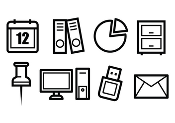 Free Office Icons - vector #398579 gratis