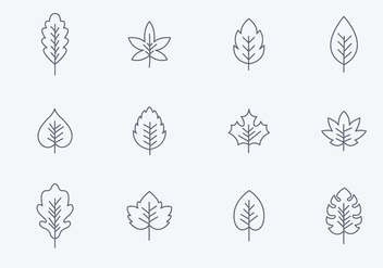 Free Simple Hojas Icons - vector #398589 gratis