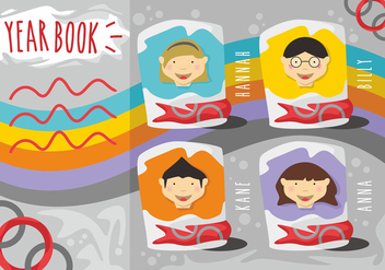Yearbook Vector Set - vector gratuit #398639