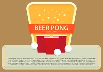Beer Pong Champion Tournament Logo Template - Kostenloses vector #398829
