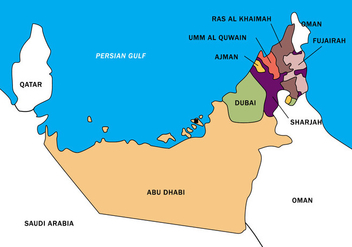 UAE Map Vector Boundary - Free vector #398879
