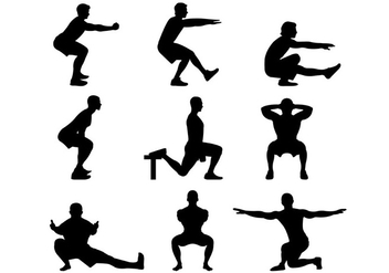 Silhouette Of Basic Squat - Kostenloses vector #398939