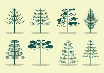 Free Araucaria Tree Vector - бесплатный vector #399039