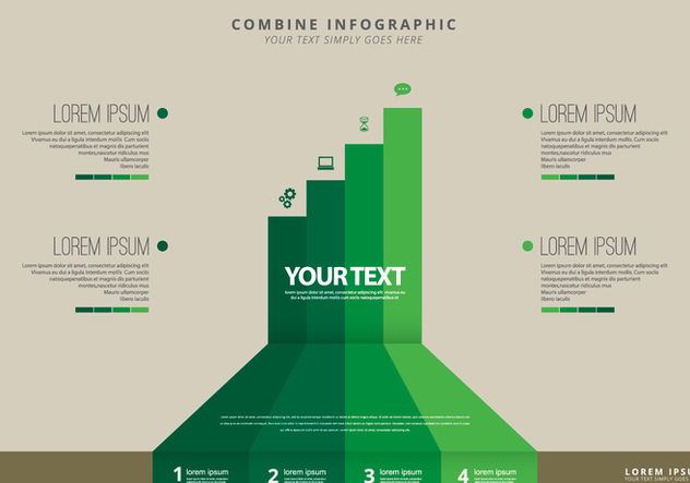Combine Steps Infographic Template - Free vector #399059