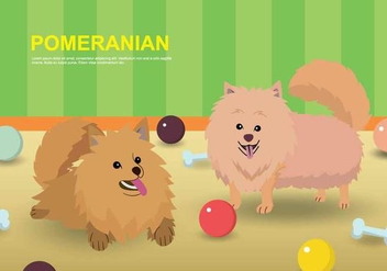 Free Pomeranian Illustration - бесплатный vector #399069