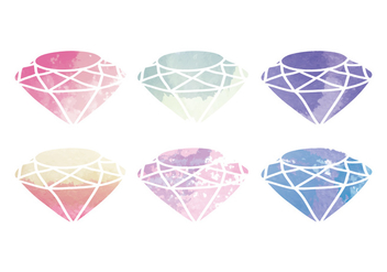 Vector Watercolor Diamond - vector gratuit #399289