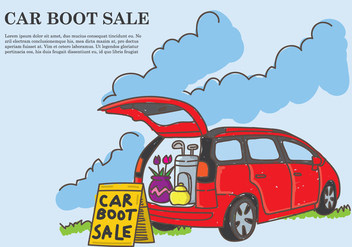 Car Boot Sale Background - vector gratuit #399309