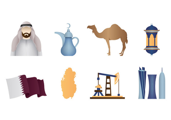Qatar Icons Vector - бесплатный vector #399349