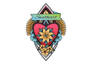 Old School Tattoo Vector - vector #399359 gratis