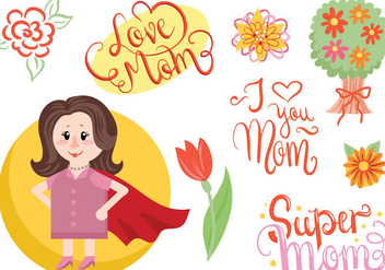 Free Super Mother Vectors - vector gratuit #399389