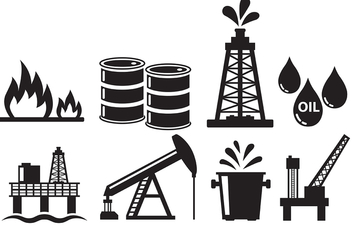 Oil Field Icons - Free vector #399419