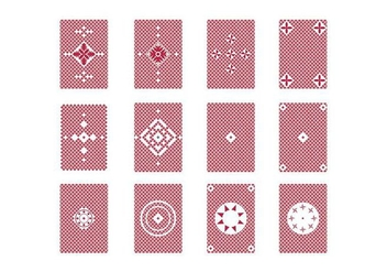 free Playing Card Back vector - vector gratuit #399429