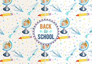 Free Vector Back To School Illustration - бесплатный vector #399449