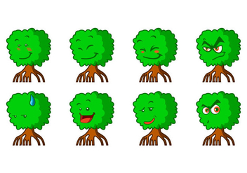 Free Cartoon Mangrove Emoticon Vector - Kostenloses vector #399689