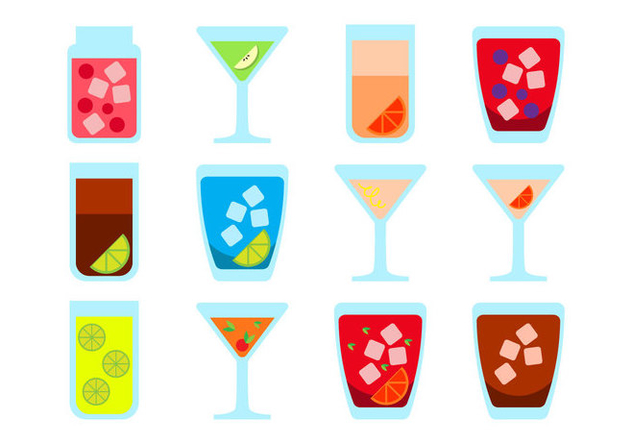 Free Alcoholic Drink Icon Vector - vector gratuit #399699