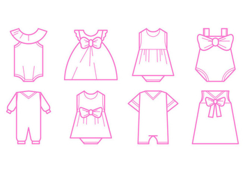 Free Baby Fashion Icon Vector - vector gratuit #399719