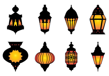 Free Arabic Hanging Lamp Vector - бесплатный vector #399849