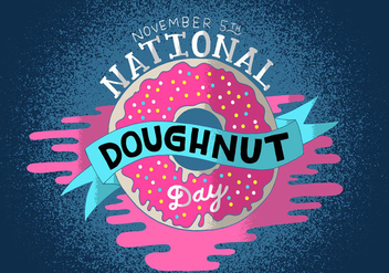 National Doughnut Day - vector #399859 gratis