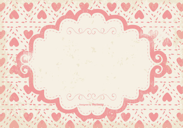 Cute Pink Hearts Grunge Background - vector gratuit #399889