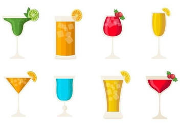 Free Cocktail Alcohol Drinks Vector - Free vector #399989
