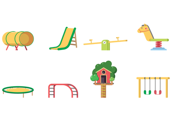 Kids Playground Equipment Vector - vector gratuit #400149