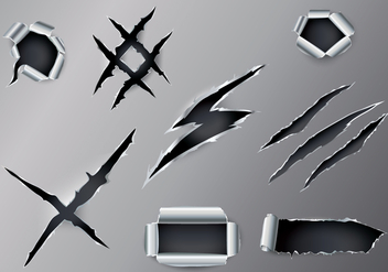 Free Ripped Metal Vector - Free vector #400179