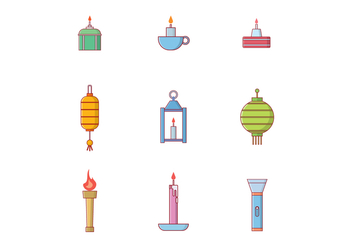 Free Lighting Objects Vector - бесплатный vector #400229