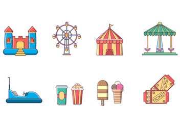 Free Amusement Park Vector - бесплатный vector #400239