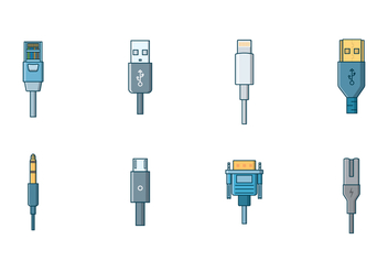 Free Cable Connector Vector - бесплатный vector #400249