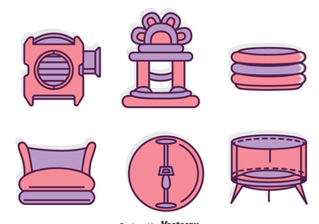 Bounce Houese Element Tools Vector - Free vector #400269