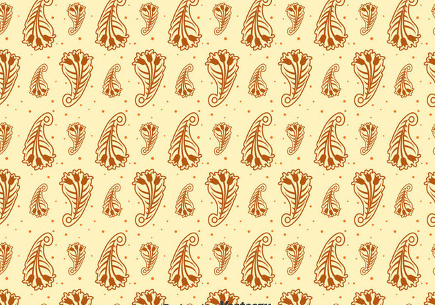 Brown Cashmere Seamless Pattern - vector gratuit #400289