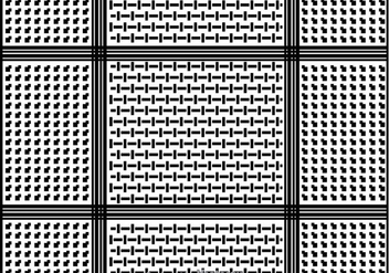 Keffiyeh Pattern Background - vector gratuit #400349