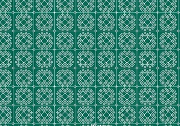 Green Keffiyeh Pattern - Free vector #400359