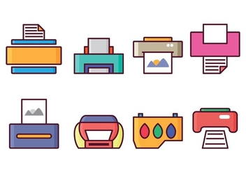 Free Printer Icon Set - vector gratuit #400379