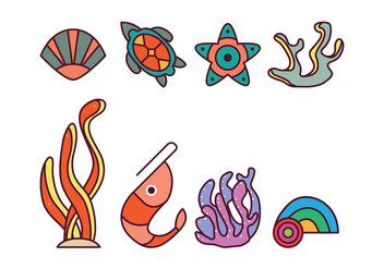 Free Coral Reef Vector Pack - Free vector #400399