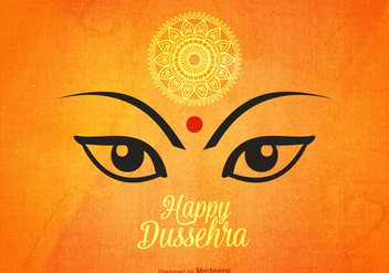 Free Happy Dussehra Vector Background - vector gratuit #400429
