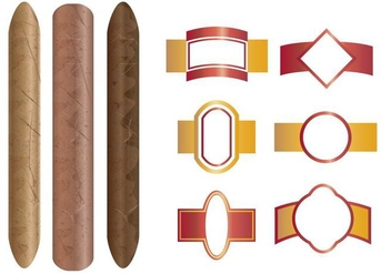 Cigar And The Labels Template - бесплатный vector #400449