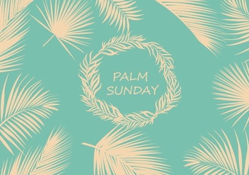 Palm Sunday Background Vector - Free vector #400459