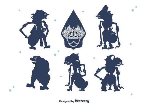 Wayang Silhouettes Vector - Free vector #400489