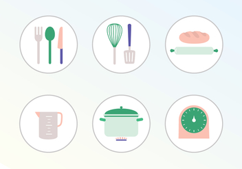 Cooking Vector Icons - бесплатный vector #400599