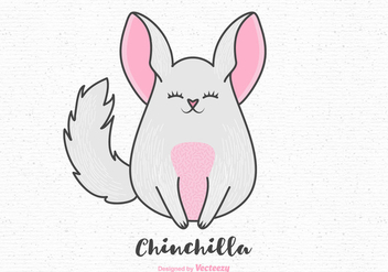 Free Cartoon Chinchilla Vector - vector gratuit #400609