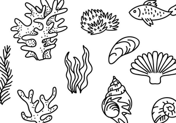Free Sea Creatures Vectors - бесплатный vector #400629