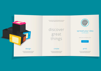 Ink Cartridge Flyer Template - vector #400679 gratis