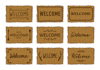 Welcome Mat Vector - vector gratuit #400759